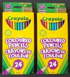 Crayola (A Hallmark Company) Coloured (Color) Pencils With Bonus Sharpener #Crayola