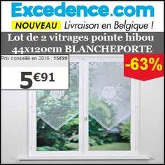 #missbonreduction; 63 % de remise sur le Lot de 2 vitrages pointe hibou 44x120 cm BLANCHEPORTE chez Excedence.http://www.miss-bon-reduction.fr//details-bon-reduction-Excedence-i246-c1834786.html