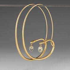 Quadrum - Large Diamond Snake Hoops