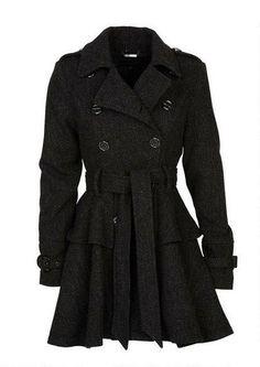Steve Madden Wool Peplum Coat