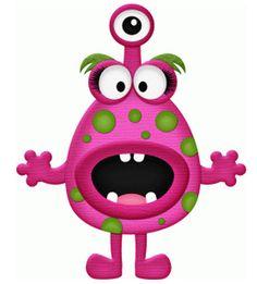 pink monster bu stinkin cute paper piecings #88236