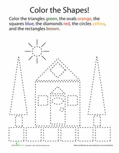 Math isn't always about numbers; sometimes it's about matching, estimating, and drawing. Help your child learn the more abstract ideas in math with these shape worksheets.