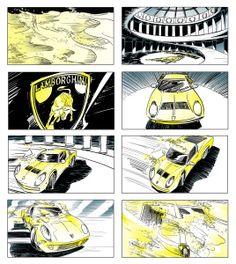 #lamborgini #storyboards #johngajowski #comicbook