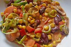 Gemüsepfanne, mexikanisch, ein sehr schönes Rezept aus der Kategorie Gemüse. Bewertungen: 61. Durchschnitt: Ø 4,4.