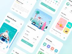 Travel App designed by SoLemon for Top Pick Studio. Connect with them on Dribbble; Web And App Design, Ios App Design, Design Android, Mobile App Design, Food App, Ui Kit, Wireframe Mobile, Design Thinking, Hotel App