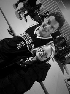 Lauren Potter (Becky Faye Jackson) and Cory Monteith (Finn Hudson) RIP Cory <3