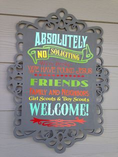 Modern Stylish No Soliciting sign by SweetBeaDesign on Etsy