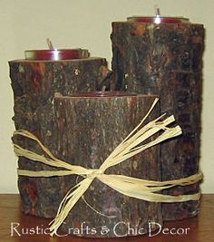 how to make candle holders out of tree branches