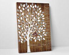 Wedding Guest Book Alternative // Wedding by WeddingTreePrints
