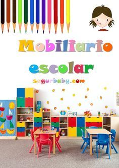 Kindergarten Interior, Kindergarten Design, Preschool Rooms, Daycare Rooms, School Murals, School Displays, Nursery School, School Design, Kids Furniture
