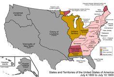 1800 united states map | Pinckney's Treaty