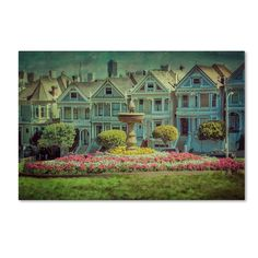 Alamo Square by Erik Brede Photographic Print Gallery Wrapped on Canvas