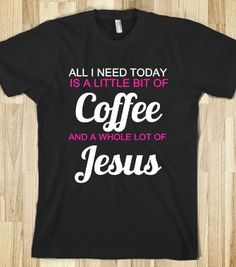 coffee jesus black and pink - glamfoxx.com - Skreened T-shirts, Organic Shirts, Hoodies, Kids Tees, Baby One-Pieces and Tote Bags