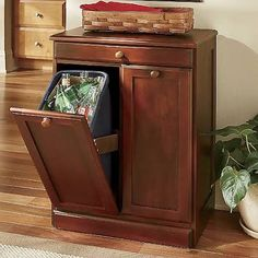 How to Build a Custom Tilt-Out Trash Cabinet | Awesome, Cabinets and Hampers