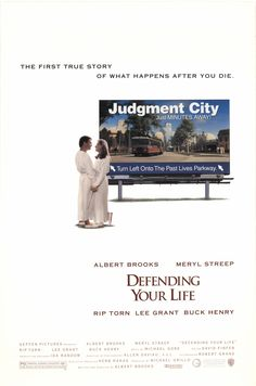 """""""Defending Your Life"""" movie poster, 1991."""