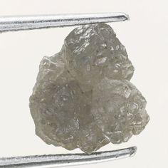 Genuine Diamond Rare Raw Rough Loose Diamond 1.40 Ct  Silver GRayish Color