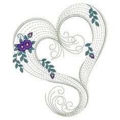 Rippled Floral Hearts 6 - 3 Sizes! | Floral - Flowers | Machine Embroidery Designs | SWAKembroidery.com Ace Points Embroidery