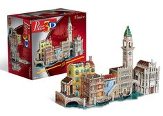 "Venice 3D Puzzle is 780 pieces and measures nearly 2 feet long when complete. Highly detailed replica of a Venice landscape will come together as you assemble the pieces. Finished size is 8.75""H x 23.5"" W x 15.75""L. Advanced Skill Level. Part of the Puzz3D series from Winning Solutions."