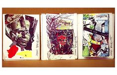 Postcards made by Jean-Michel Basquiat as a teen