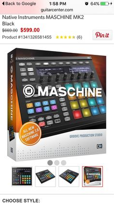 Shop for Native Instruments MASCHINE and save extra money when you buy Open Box Blemished. Native Instruments, Music Instruments, Microphone Studio, Extra Money, Nativity, Dj, Tables, Guitar, Creative