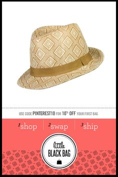 August Accessories Two-tone Woven Fedora from LittleBlackBag.com
