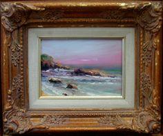 Seascape oil painting Gail Grant California impressionist oil painting ocean #Impressionism