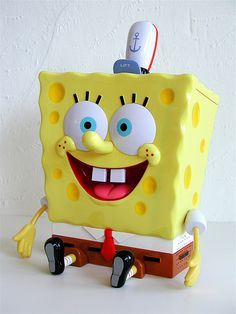 everyone needs a talking sponge bob cookie jar!!! Not really, but it sure does remind me of my grandson!