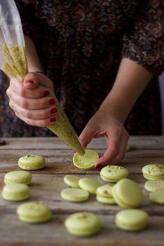 Pistaccio macarons