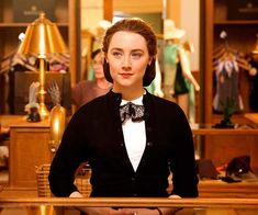 Saoirse Ronan in Brooklyn, a 2015 BBC Films production, directed by John Crowley and written by Nick Hornby. The film also stars Emory Cohen and Domhnall Gleeson. Retro Mode, Mode Vintage, Ryan Gosling, Brooklyn Trailer, Emory Cohen, Nick Hornby, Golden Globe Nominations, Movie To Watch List, Vintage Style