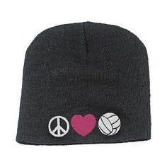Broder Peace Love Volleyball Beanie $10.99