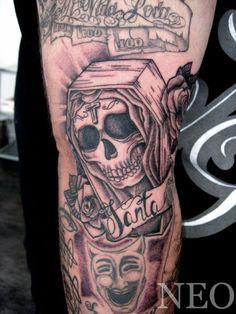 Sexy Santa Muerte Tattoos