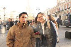 Madrid en Navidad, salida de los alumnos de español para extranjeros.