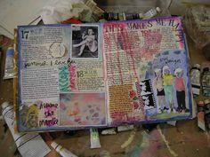 For baba Josie's art journal x Junk Journal, Bullet Journal Art, Art Journal Pages, Journal Cards, Art Journals, Art Journal Inspiration, Art Inspo, Journal Ideas, Up Book