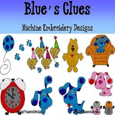 blues+clues+designs+for+embroidery+machine | Blues Clues Machine Embroidery Design MULTIPLE FORMATS AVAILABLE