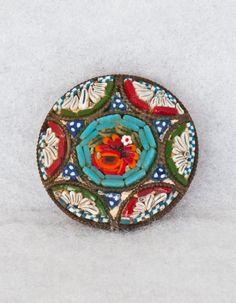 Micro Mosaic Brooch...