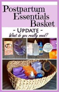 DIY Postpartum Essentials Basket: What new mamas need after baby Diy Postpartum, Postpartum Must Haves, Postpartum Recovery, Getting Ready For Baby, Preparing For Baby, New Mom Gift Basket, Before Baby, New Baby Products, Nursing