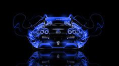 Bugatti Veyron Back Fire Abstract Car 2014