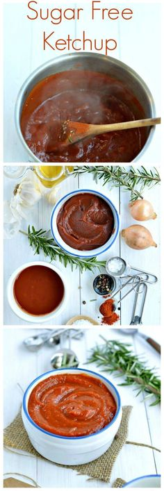 This Sugar Free Ketchup is the healthiest dip on earth ideal for people on a diabetic diet. #Sugarfreerecipes