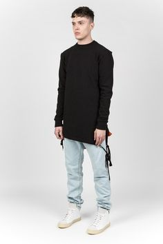 Y/PROJECT - BLACK DRAWSTRING JUMPER
