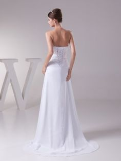 Topwedding Flowing Chiffon Sweetheart Summer Beach Wedding Bridal Gown  http://www.yearofstyle.com/topwedding-flowing-chiffon-sweetheart-summer-beach-wedding-bridal-gown-3/