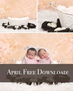 April Free Download! Easter Bucket With Egg And Flowers Background - Beautiful Digital background Newborn Photography Prop download