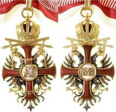 Franz Joseph Order, Commander's Cross neck badge, on military ribbon, with Swords, Firma Rothe & Neffe, Vienna.