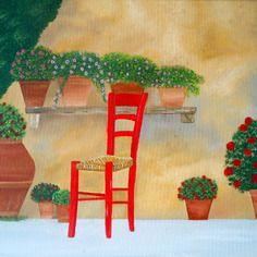 La sedia rossa in toscana