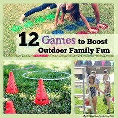 12 outdoor games for kids.