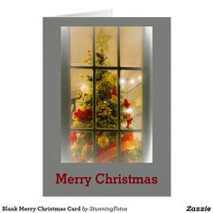 Blank Merry Christmas Card