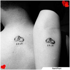 Name Tattoos, Tatoos, Unique Tattoos, Small Tattoos, Tattoo Casal, Sharpie Tattoos, Best Couple Tattoos, Couples Tattoo Designs, Fake Photo