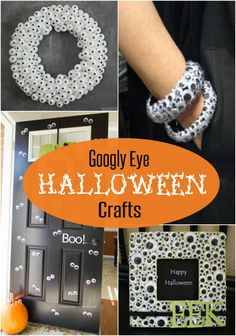 I love me some googly eyes, especially around Halloween, but not so much on my floor after my daughter's craftcapades. Here are several crafts to brighten up your Halloween deco… Halloween Post, Halloween Crafts For Kids, Halloween Fashion, Halloween Projects, Holidays Halloween, Happy Halloween, Halloween Stuff, Halloween Makeup, Halloween Costumes