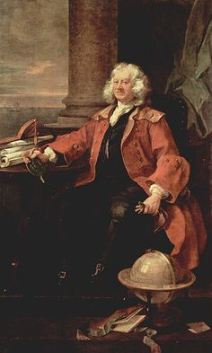 Captain Thomas Coram  painted by William Hogarth, 1740. He's wearing a greatcoat.