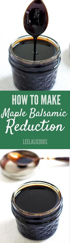 Balsamic reduction is a wonderful condiment that can add a whole new level of deliciousness to range of savory and also sweet dishes. It has an amazing sweet-tart flavor profile. Instead of buying expensive bottles of balsamic reduction, try making it at home with this very simple and economical method. #spon