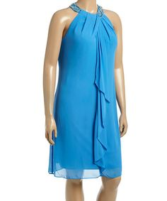 Another great find on #zulily! Lagoon Ruffle Yoke Dress - Plus #zulilyfinds
